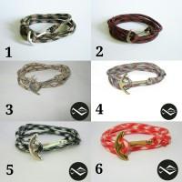 harga Gelang Jangkar  - Anchor Bracelet - Paracord / Nautical Bracelet Tokopedia.com