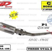 harga Knalpot Cld Blade/supra 125 Type C1 Bore Up Silencer Tri-oval Doff Tokopedia.com
