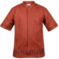 Baju Koko / Baju Muslim / Baju Muslim Pria / Warna Merah Bata