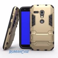 Motorola MOTO G - IRON MAN HardCase Armor with Stand Holder Casing