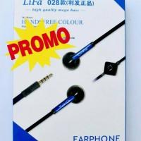 HANDSFREE EARPHONE HEADSET LIFA MEGA BASS U / SAMSUNG IPHONE OPPO XIAOM