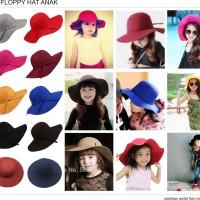 topi floppy hat anak floopy pantai lebar anak dan balita banyak warna