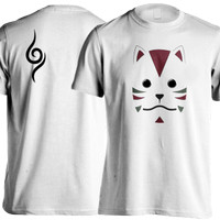 Kaos Anbu Mask Itachi / Anime Naruto / Konoha Secret Agent / Putih