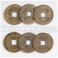 Jual Ancient Triple Coin/Triple Coin/Koin kuno cina 3 buah/ Koin Kuningan Murah