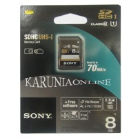 harga SONY SDHC UHS-1  8GB class 10 up to 70MB/s Tokopedia.com