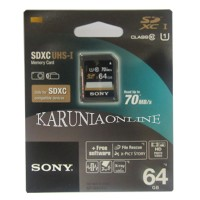 harga SONY SDXC UHS-1 64GB class 10 up to 70MB/s Tokopedia.com
