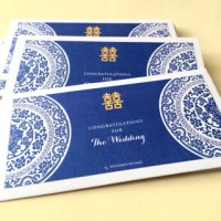 Jual Amplop Angpao untuk Wedding Blue Porcelain - Landscape Murah