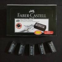 Penghapus faber-castell bebas debu warna hitam
