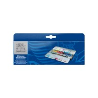 COTMAN Water Colours Metal Sketchers' Box 24 Half Pans