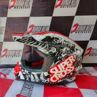 harga helm trail motocross GM supercross motif #Racing Tokopedia.com