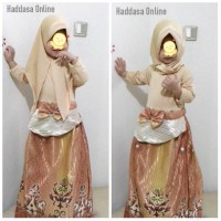 Baju muslim anak / gamis anak jodha + kerudung