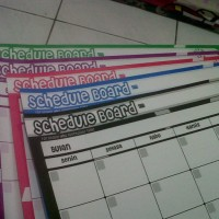 Schedule Board Dan White Board Bolak Balik