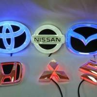 Emblem Logo Mobil Car LED Toyota Honda Mitsubishi