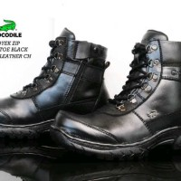 SEPATU MURAH CROCODILE SAFETY BOOTS PROYEK ZIP KULIT