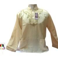 Baju Koko Anak - Dewasa Al-Ihsan Model Udje / Uje / Jefri Kancing Tiga