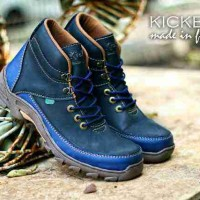 SEPATU BOOT KICKERS TREKKING LEATHER SUEDE SAFETY LEATHER V4
