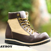 SEPATU PLAYBOY BOOT SAFETY SHOES TERMURAH TD34