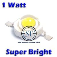 High Power LED 1W White Emitter Bead - Biji LED Super Bright Putih