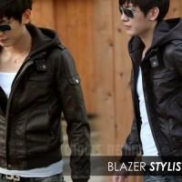 toko online | jaket korean | leather style hoodie