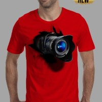 kaos 3d pria/switer/distro/baju/tshirt fotographer camera foto merah