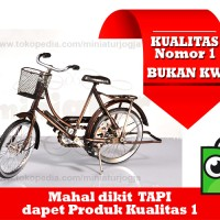 Miniatur Sepeda Jengki/ Sepeda Keranjang Depan