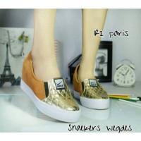 Harga sneaker wedges boot heels casual wanita sepatu murah | WIKIPRICE INDONESIA