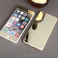 Tempered Glass Mirror Color Front & Back 2 in 1 Apple iPhone 4 5 6 6+