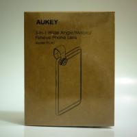 Lensa Kamera Handphone Wide Angle Macro Fisheye Aukey 3 in 1