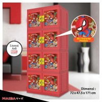 harga Lemari Plastik Naiba - Kabinet tipe Spiderman 3D 9414  R (Susun 4) Tokopedia.com