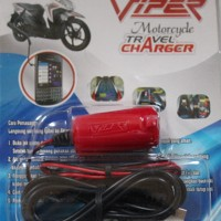 harger Khusus Motor / MOtorcyle Travel Charger - Viper ( Sambungkan ke