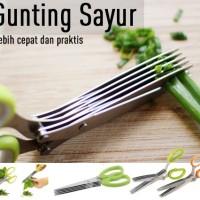 Gunting Sayur 5 Lapis Alat Potong Makanan Dapur Praktis Sayuran Pisau