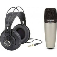 Samson C01/SR850 - Condenser Mic With Headphone Bundle Pack