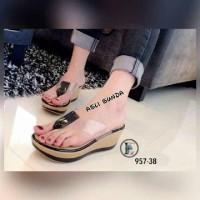 harga Wedges jepit mika/supplier sepatu wanita murah Tokopedia.com
