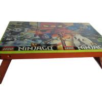Meja Lipat - Meja Laptop / Belajar / Menggambar / Kecil / Kartun / Anak / Kayu