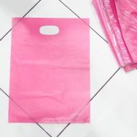 PLASTIK SHOPPING BAG 40 x 30 cm PLONG POLOS KRESEK BELANJA ONLINE TOKO