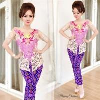 Kebaya Batik Mayang Charisma Pink