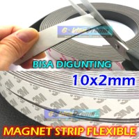 Magnet Strip Flexible 10x2mm Sticker 3M Kulkas Kasa Nyamuk Kerajinan