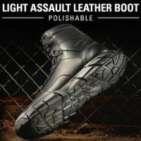 "Sepatu Boot Oakley SI Light Assault Leather Boot Black 7"""
