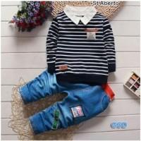 Stelan Aberto / Blus Kerah Celana Anak Kecil Laki / Blouse / Baju Cowok