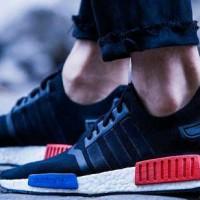 harga sepatu adidas nmd black red blue premium high Tokopedia.com