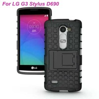 LG G3 Stylus Rugged Stand Armor Hard Soft Back Case Cover Casing