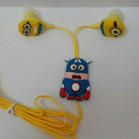 EarPhone 3.5mm (Minion in custom Captain America)