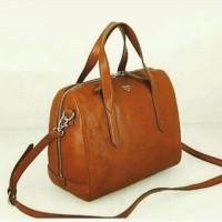 fossil sydney satchel brown