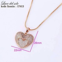 harga Kalung lapis emas cocok untuk kado / hadiah pacar Tokopedia.com