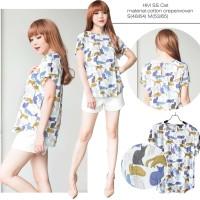 HMB SS Print & Plain women blouse