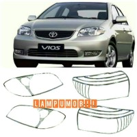 Garnish Lampu Set Toyota Vios 2003-2005 Warna Chrome