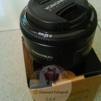 Jual Lensa YONGNUO EF 50mm 1.8 (CANON)+front/rear Lenscap Murah
