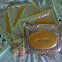 Masker bibir - lip gold crystal collagen new original