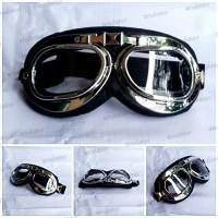 Kacamata Helm Bogo Cakil Pilot Clasic Retro Vespa Aviator Pilot Goggle