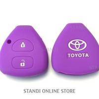 Kondom Kunci Silikon Remote Keyshirt Toyota Innova Yaris UNGU